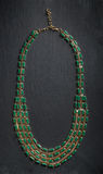 Necklace with green stones Royalty Free Stock Photography