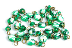 Necklace with handmade beads Royalty Free Stock Image
