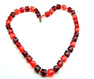 Necklace heart shaped Royalty Free Stock Photo
