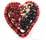 Necklace heart shaped Stock Photo