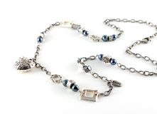 Necklace heart and square Stock Images