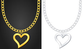 Necklace with heart symbol Stock Photos