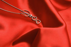 Necklace with hearts Stock Photos