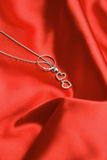 Necklace with hearts Royalty Free Stock Photo