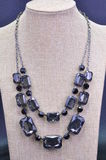 NECKLACE. JEWELERY METAL NECKLACE WITH PLASTIC BEADS stock images