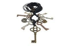 Necklace keys. Royalty Free Stock Photos