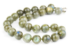 Necklace of labradorite Royalty Free Stock Image