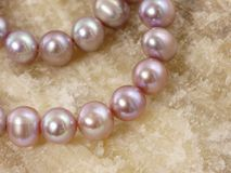 Necklace from a large pearls Royalty Free Stock Photo