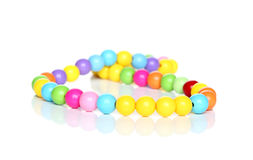 Necklace made of colorful beads Stock Images