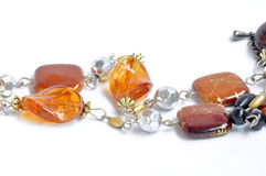 Necklace made of gem and stone Royalty Free Stock Photos