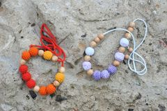 Necklace made by hands Royalty Free Stock Photography