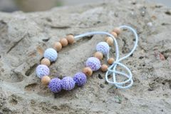 Necklace made by hands Royalty Free Stock Images