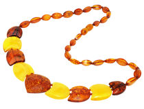 Necklace made of natural Baltic amber Stock Photos