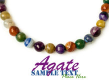 Necklace of multicolored agate stock image