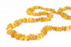 Necklace from natural amber Royalty Free Stock Photos