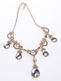 Necklace, necklace on background. Royalty Free Stock Photography
