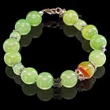 Necklace of nephrite jade Royalty Free Stock Image