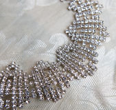Necklace. Nice necklace with bright diamonds stock images