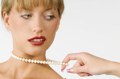 Necklace pearl Royalty Free Stock Image