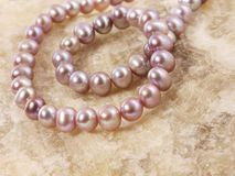 Necklace from a pearl jewelry Stock Photo