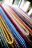 Necklace of pearls. Picture of colorfull necklaces made out of pearls Royalty Free Stock Photos