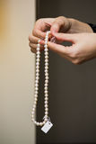 Necklace of pearls III Stock Image