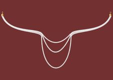 Necklace of pearls. Royalty Free Stock Photography