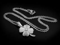 Necklace - Pendant Four-leaf clover Royalty Free Stock Photo