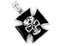 Necklace Pendant Maltese Cross - Stainless steel Royalty Free Stock Image