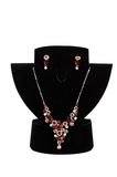 Necklace with pendants and earrings Stock Image