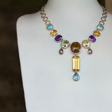 Necklace with precious stones Stock Image