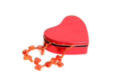 Necklace in Red Box stock image