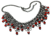 Necklace with red stones Stock Photos