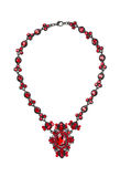 Necklace with rubies. Stock Photo