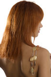 Necklace on shoulder Royalty Free Stock Photos