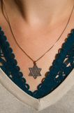 Necklace with the Star of David Royalty Free Stock Images