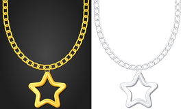 Necklace with star symbol Royalty Free Stock Image