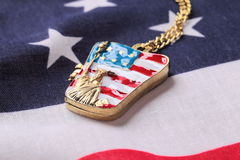 Necklace with statue of liberty Stock Images