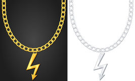 Necklace with thunder symbol Stock Image