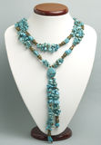 Necklace with turquoise. And beads Royalty Free Stock Photo