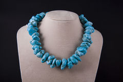 Necklace of turquoise Stock Photo