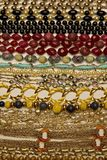 Necklace variety. A variety of necklaces are photographed showing different shapes, color and texture stock image