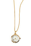 Necklace watch on white background Royalty Free Stock Photography