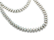 Necklace with white crystals Stock Image