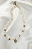 Necklace of white pearls Stock Photo