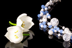 Necklace With Flowers Royalty Free Stock Photo