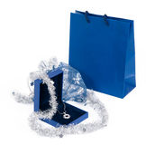 Necklace With Gift Bag Royalty Free Stock Images