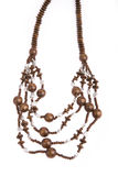 Necklace of wooden Stock Image
