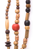 Necklace of wooden Stock Photo