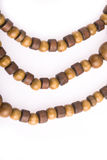 Necklace of wooden Stock Photos